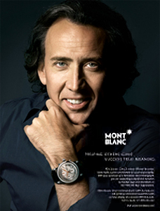 Nicolas Cage Advertisement for MontBlanc