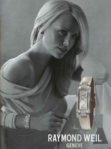 Charlize Theron Advertisement for Raymond Weil