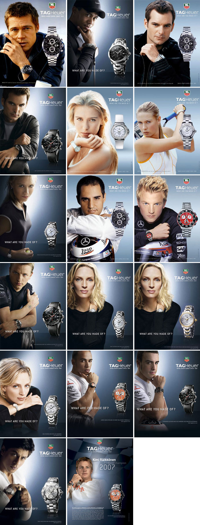 Tag Heuer Advertisements