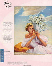 A magazine advertisement from the 1952 Diamond is Forever De Beers campaign