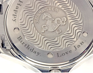 Custom Laser-engraving on watches