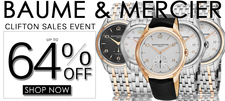 Baume and Mercier Clifton Sales Event