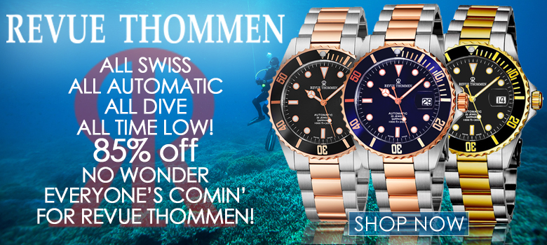 REVUE THOMMEN SWISS AUTOMATIC DIVERS