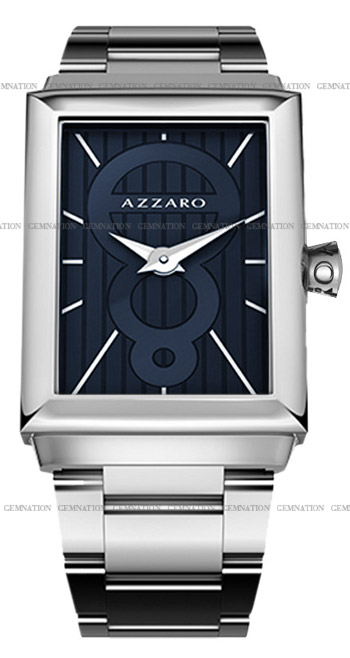 Azzaro Legend Rectangular 2 Hands Mens Wristwatch Model: AZ2061.12EM.000