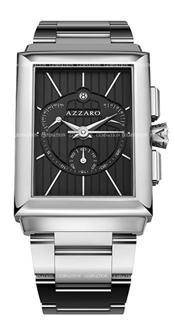 Azzaro Legend Rectangular Chronograph Mens Wristwatch Model: AZ2061.13BM.000