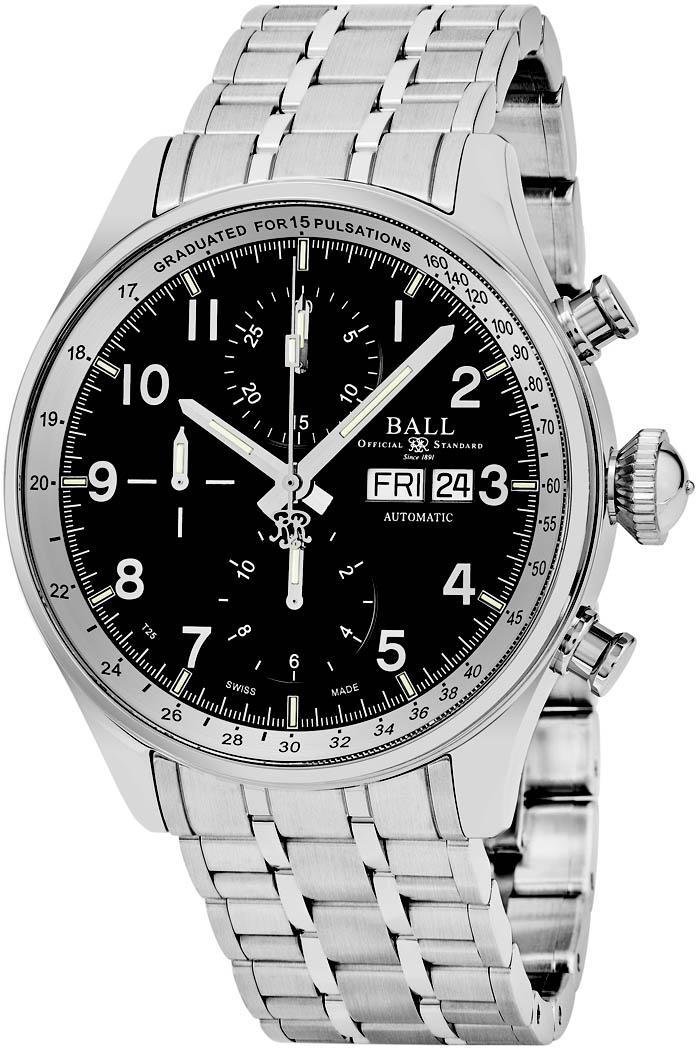 Ball Trainmaster Men's Watch Model CM3038C-SJ-BK Thumbnail 2