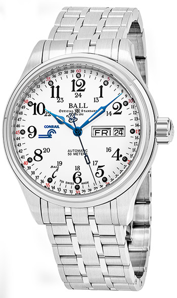 Ball Trainmaster Men's Watch Model NM1058D-S10J-WH