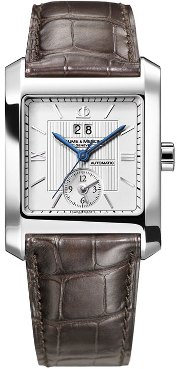 Baume & Mercier Hampton Square Dual Time Mens Wristwatch Model: MOA08752