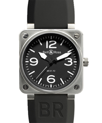 Bell & Ross Aviation Men's Watch Model BR01-92STEEL