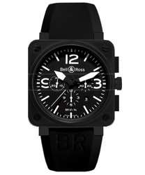 Bell & Ross Aviation Men's Watch Model BR01-94-CARBON