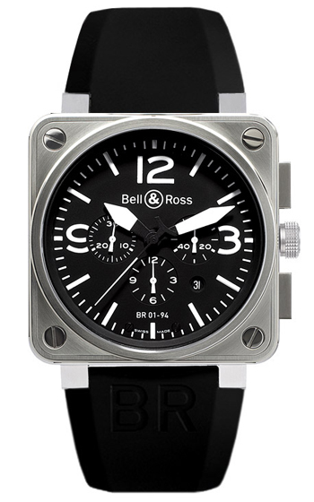 Bell & Ross Aviation Men's Watch Model BR01-94-STEEL