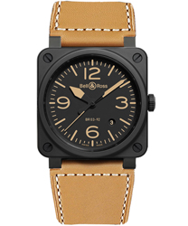 Bell & Ross Aviation Men's Watch Model BR03-92-HERITAGE-CERAMIC