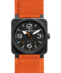 Bell & Ross Aviation Men's Watch Model BR03-92CARBONORANGE