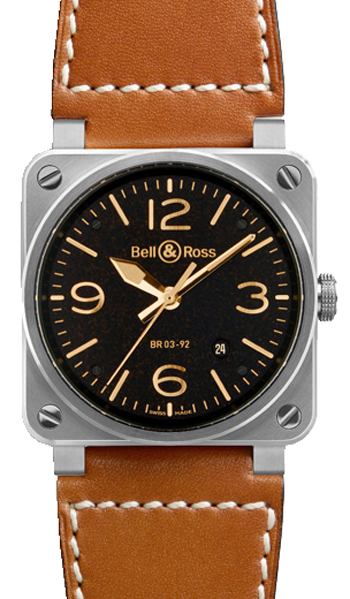 Bell & Ross Aviation Unisex Watch Model BR03-92GOLDEN-HERITAGE