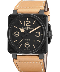 Bell & Ross Aviation Men's Watch Model BR03-92HERITAGE