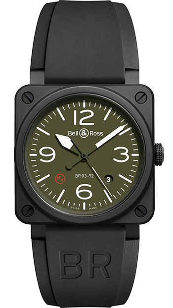 Bell & Ross Aviation Men's Watch Model BR03-92MILITARYTYPE