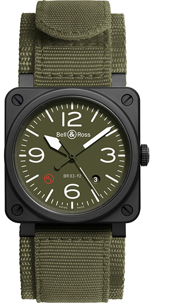 Bell & Ross Aviation Men's Watch Model BR03-92MILITARYTYPE Thumbnail 2