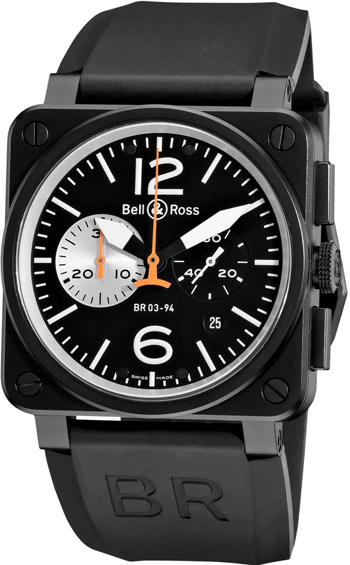 Bell & Ross Aviation Men's Watch Model BR03-94BLCKWHIT