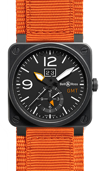 Bell & Ross Aviation Men's Watch Model BR0351-GMT-CA