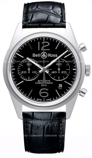 Bell & Ross Vintage BR126 Officer Men's Watch Model: BR126-OFB