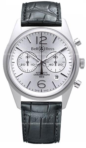 Bell & Ross Vintage BR126 Officer Men's Watch Model: BR126-OFS