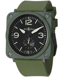 Bell & Ross Aviation BRS Unisex Watch Model: BRS-MLTRYCRMCRB