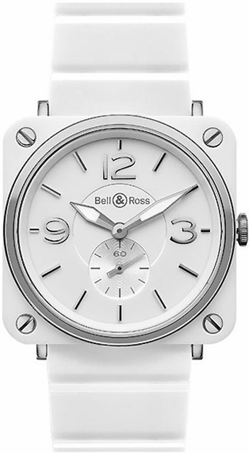 Bell & Ross Aviation Unisex Watch Model BRS-WHITECRMC-B