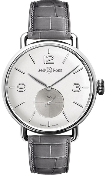 Bell & Ross Argentium Men's Watch Model BRWW1-ME-AG-OP-SCR