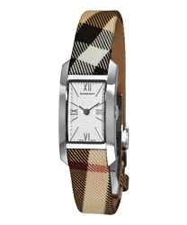 Burberry Check Engraved Ladies Wristwatch Model: BU1062