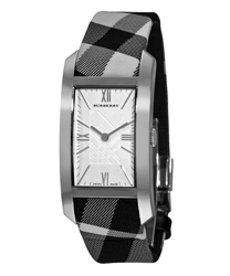 Burberry Check Engraved Ladies Wristwatch Model: BU1077