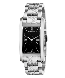 Burberry Check Engraved Ladies Wristwatch Model: BU1098