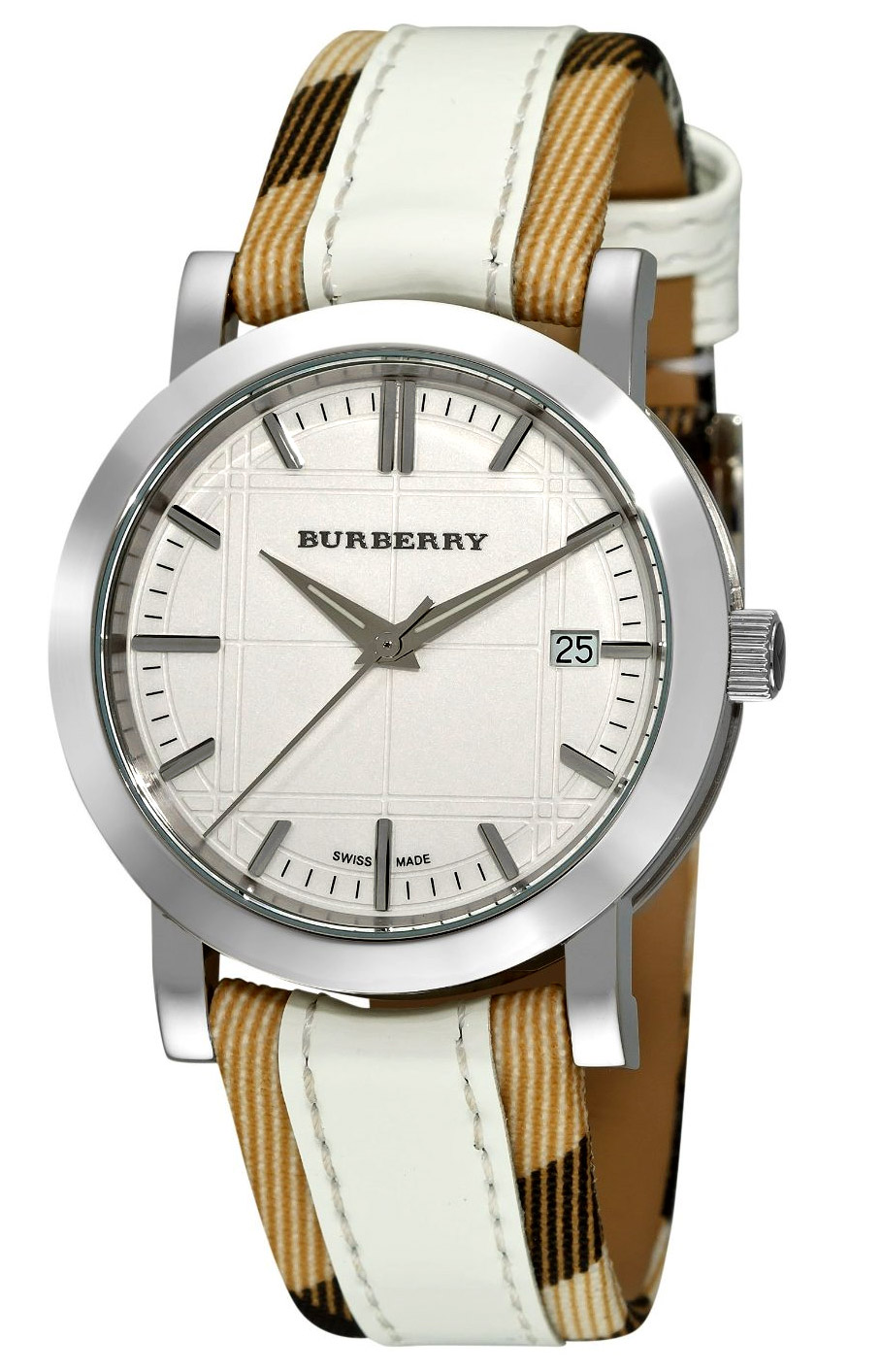 Burberry round 3 hand date unisex watch model bu1379 for Burberry watches