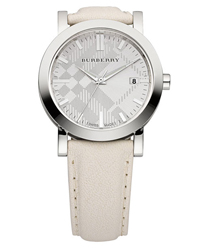 Burberry Tumbled Leather Round Dial Ladies Wristwatch