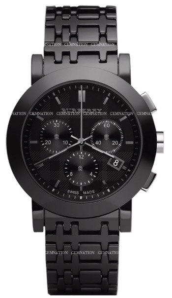 Burberry Ceramic Chronograph Mens Wristwatch Model: BU1771