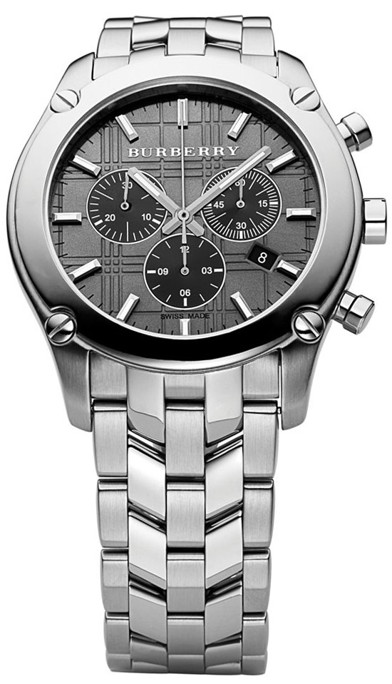 burberry round check chronograph men s watch model bu1850 burberry round check chronograph men s watch