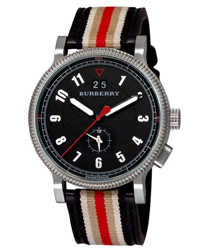 Burberry Tricolor Webbing Dual Time Men's Watch Model BU7680
