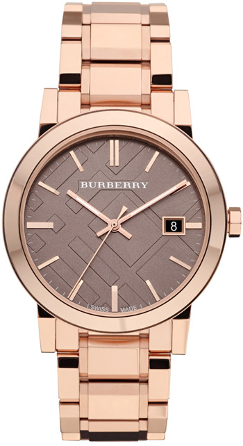 Burberry Check Dial 38mm Unisex Watch Model BU9005