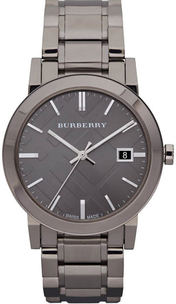 Burberry Check Dial 38mm Unisex Wristwatch Model: BU9007