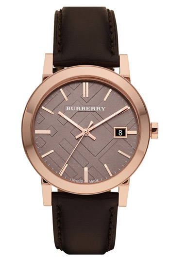 Burberry Check Dial 38mm Unisex Wristwatch Model: BU9013