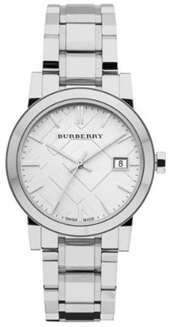 Burberry Check Dial 34mm Ladies Watch Model BU9100