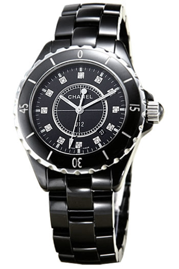 chanel false and crop shop editor upscale watches ceramic jewellery product black watch scale the subsampling zoom diamond