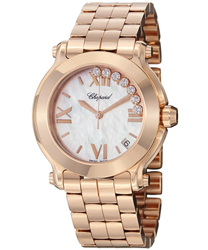 Chopard Happy Sport Round Ladies Watch Model 277472-5002