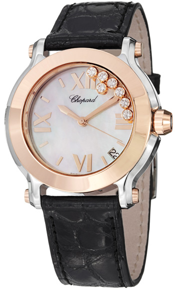 Chopard Happy Sport Round Ladies Watch Model 278492-9004