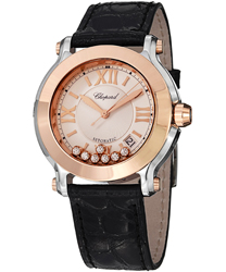 Chopard Happy Sport Round Ladies Watch Model 278559-6001