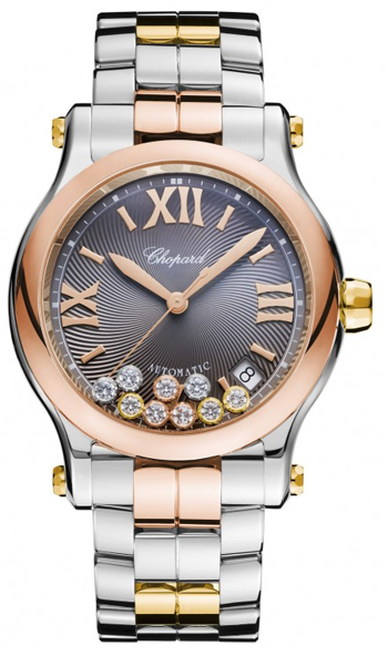 Chopard Happy Sport Round Ladies Watch Model 278559-9001
