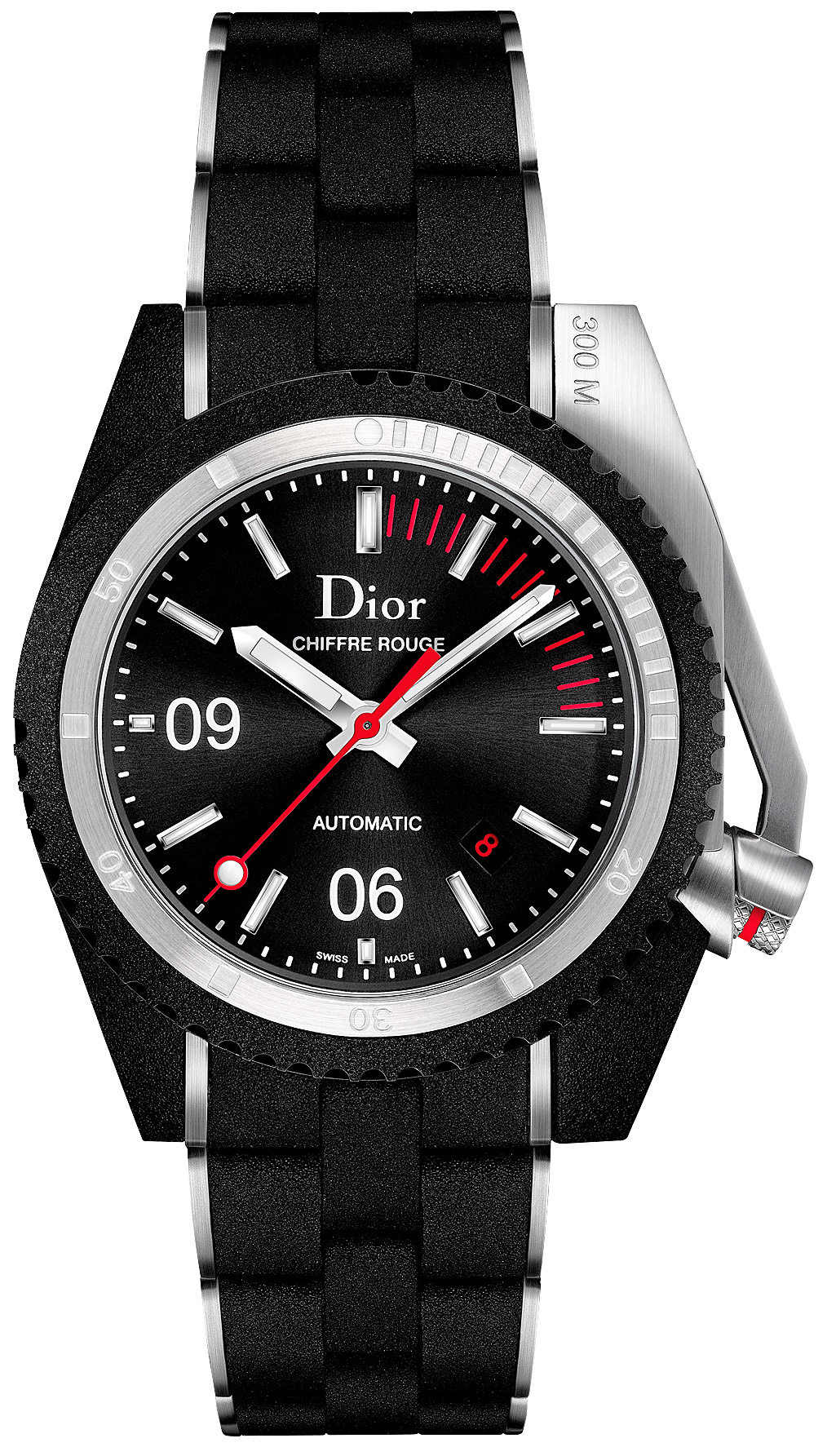 Christian dior chiffre rouge diving men 39 s watch model cd085540r001 for Christian dior watches