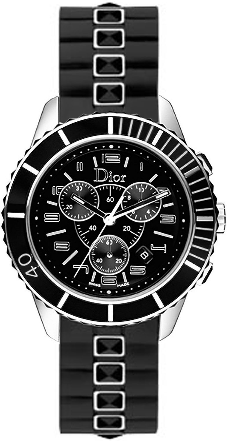 Christian dior christal chronograph unisex watch model cd114317r001 for Christian dior watches