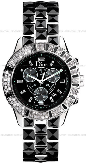 Christian dior christal chronograph unisex watch model cd11431cm001 for Christian dior watches