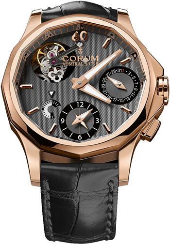 Corum admirals cup seafender 47mm seafender tourbillon gmt men 39 s watch model for Corum watches