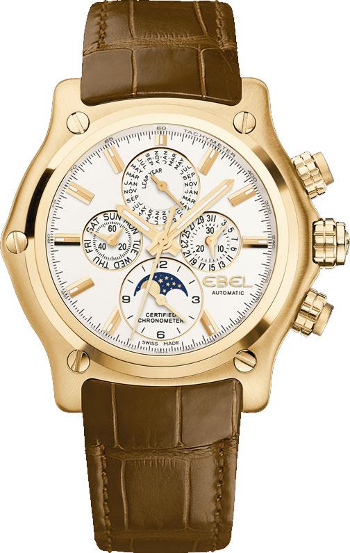 Perpetual Calendar Chronograph : Ebel btr perpetual calendar chronograph men s watch